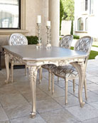 Outdoor Dining Table & Empire Outdoor Dining Chair