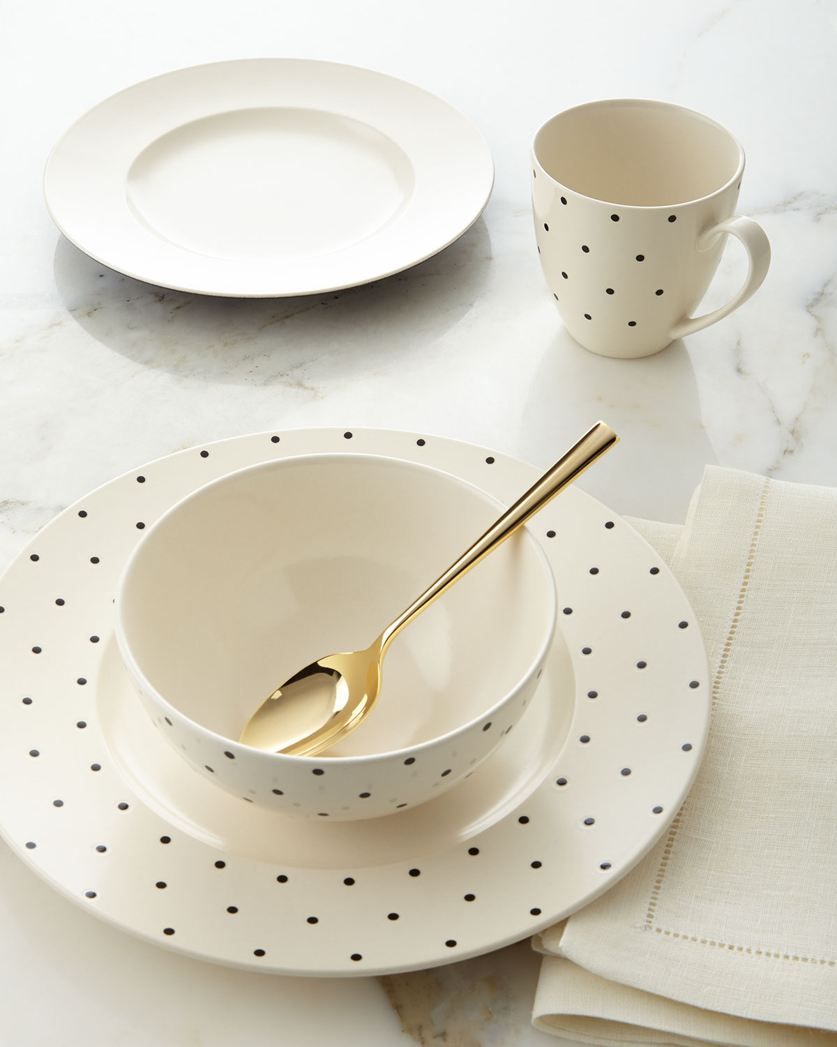 Kate Spade New York 4 - piece Larabee Dot Dinnerware Place Setting