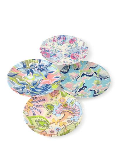 Paris Market Melamine Dinner Plates, 4-Piece Assorted Set