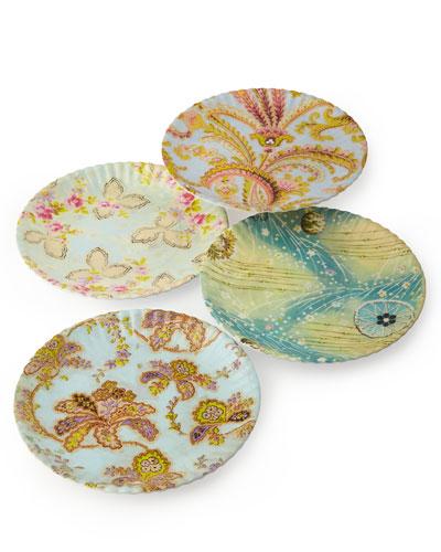 Paris Market Medium Plates, 4-Piece Assorted Set