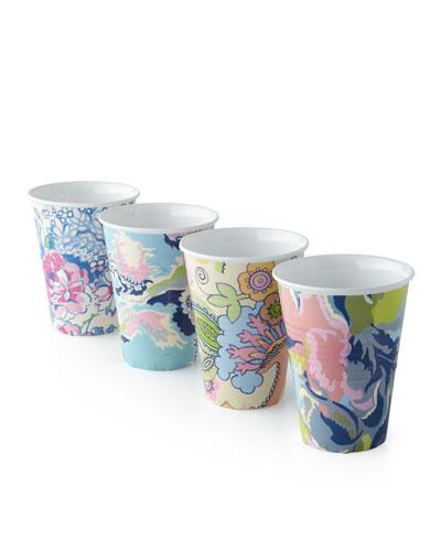 Paris Market Melamine Cups, 4-Piece Assorted Set
