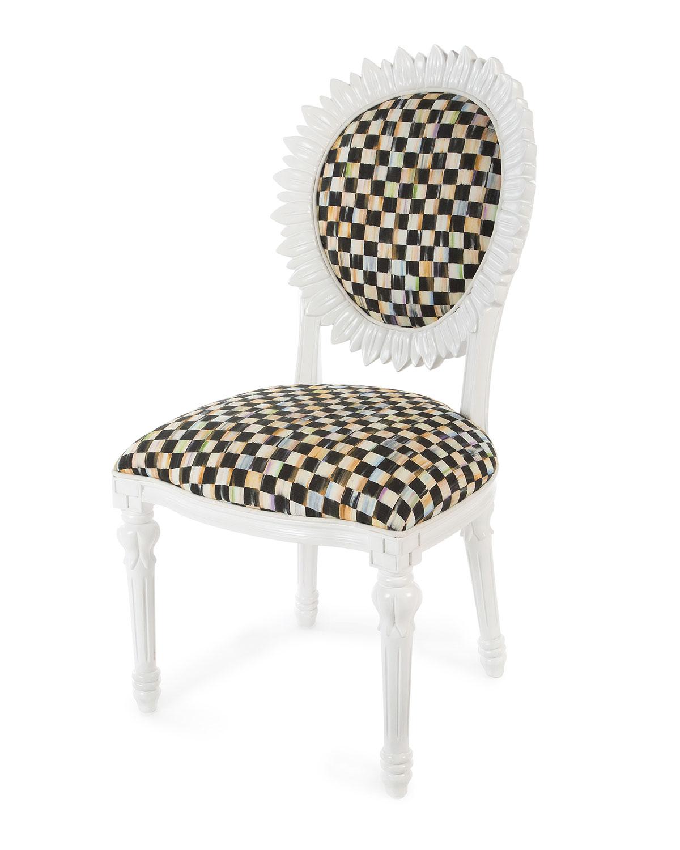 Sunflower White Outdoor Chair