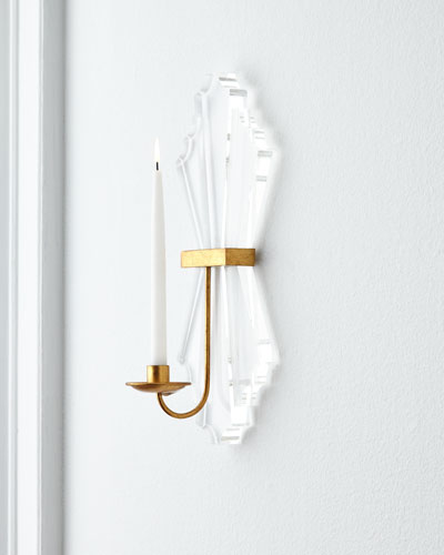Lucite Candle Sconce