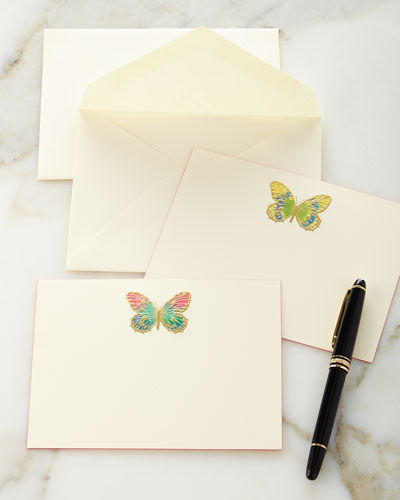 Hand-Painted Butterfly Note Cards
