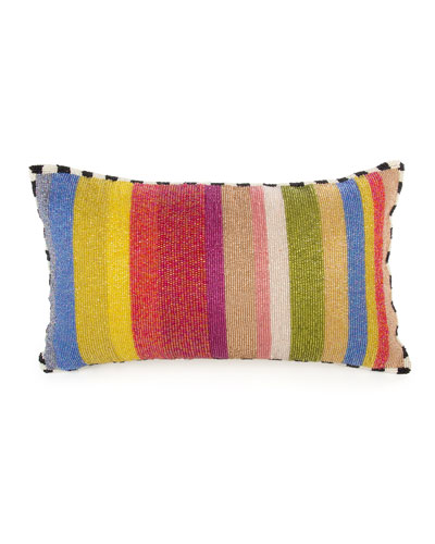 Cutting Garden Striped Lumbar Pillow