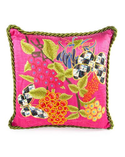 Garden Show Fuchsia Pillow