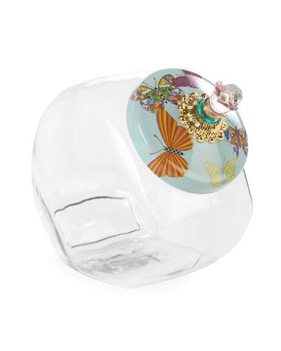 Cookie Jar with Sky Butterfly Garden Lid