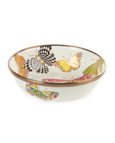 White Butterfly Garden Relish Dish