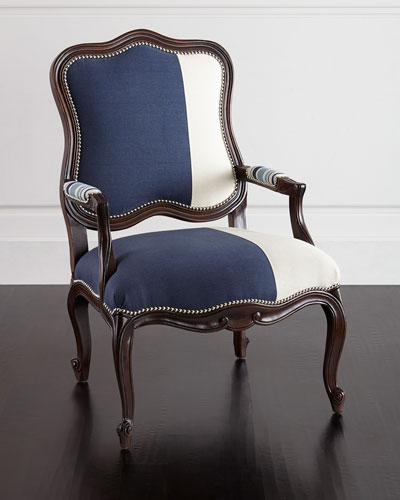 Michael Colorblock Bergere Chair