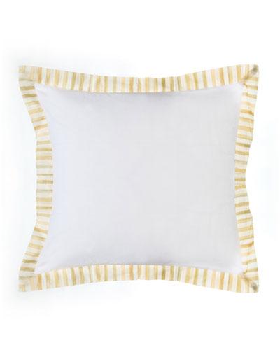 Parchment Stripe European Sham