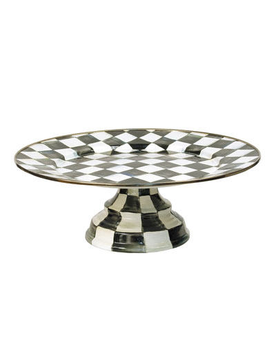 Large Courtly Check Pedestal Platter