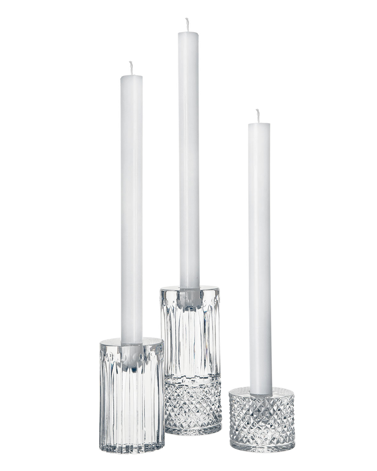 Saint Louis Crystal Tommy Contemporary Candlesticks, 3-piece Set
