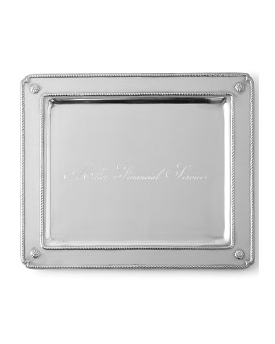 Berry & Thread Small Rectangular Tray with Monogram