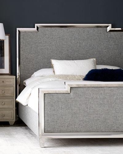 Criteria Metal Trim Upholstered King Bed