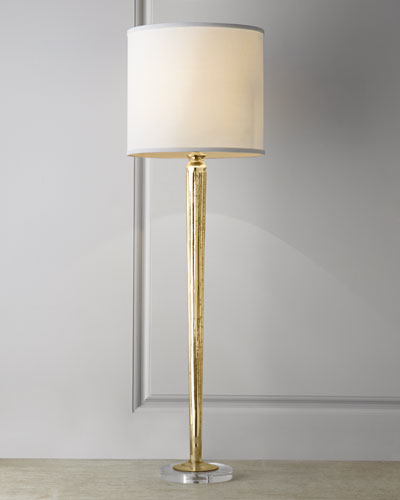Golden Mercury-Glass Candlestick Lamp