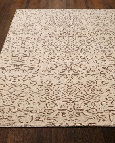 Etched Geometric Rug, 6' x 9'