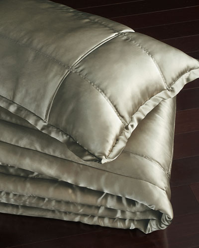 European Collection Quilted Silk Sham