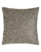 "Metallic Beads Pillow, 12""Sq."