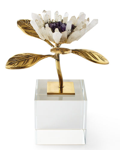 Single Crystal Bloom Floral Sculpture