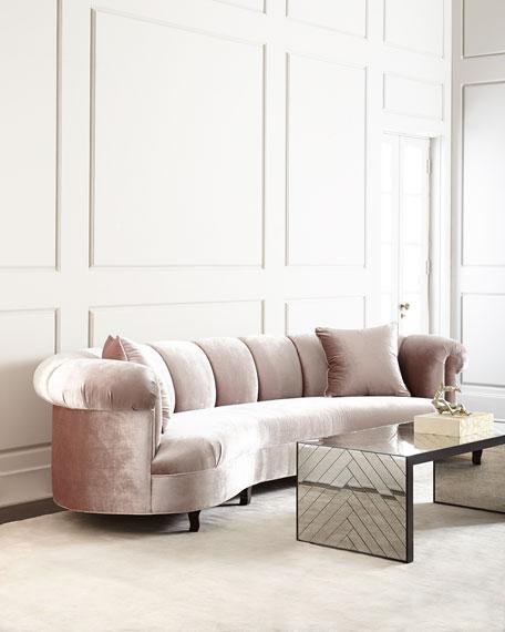 "Haute House Audrey Channel-Tufted Sofa 90"""