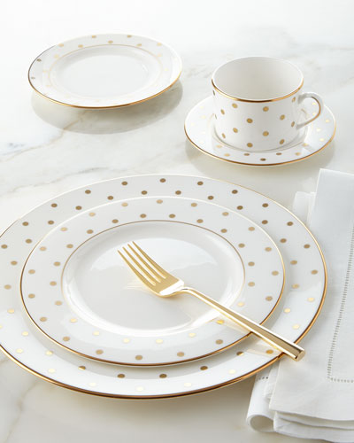 5-Piece Larabee Road Gold-Dot Dinnerware Place Setting