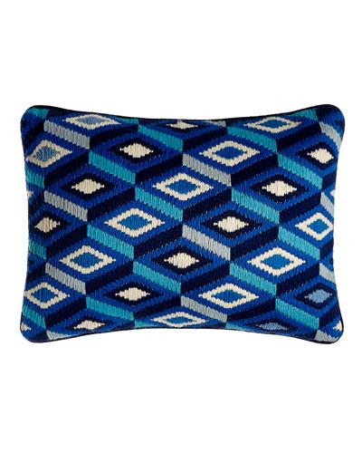 Bargello Diamonds Pillow