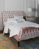 Duncan Fife Blush Tufted Queen Bed