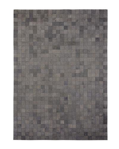 Ash-Gray Hairhide Rug, 8' x 11'