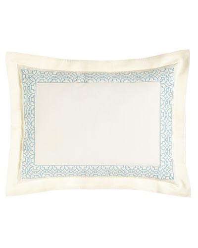 Standard Dakota Sham with Ming Embroidery