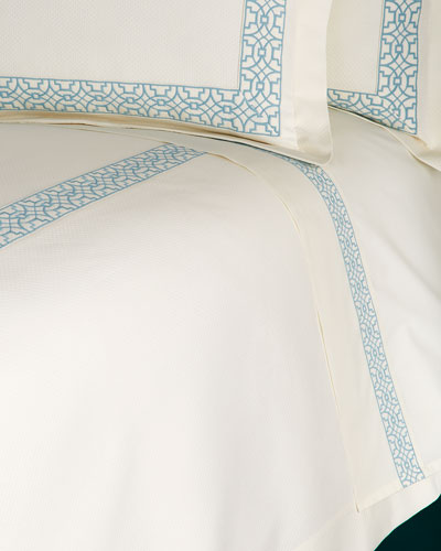 Queen Ming Embroidered Sheet Set