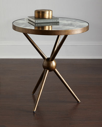 Charly Mirrored-Top Side Table