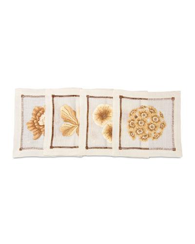 Floral Cocktail Napkins, 4-Piece Set