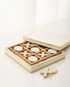 Cream Shagreen Tic Tac Toe