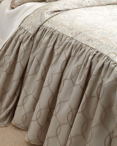 King Cynthia Skirted Coverlet