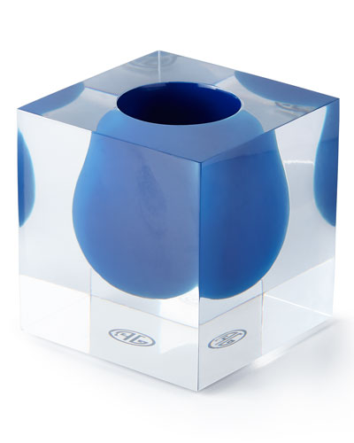 Bel Air Cobalt Mini Scoop Vase
