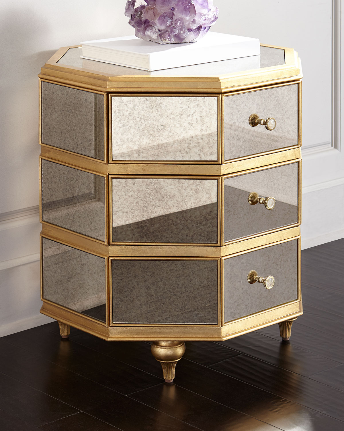 Cynthia Rowley For Hooker Furniture Bewitch Mirrored Side Table