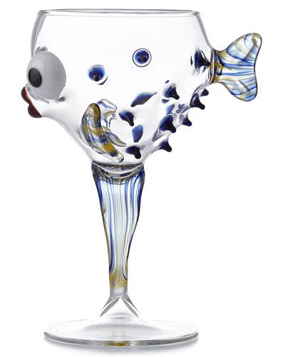 Blue Fish Goblet