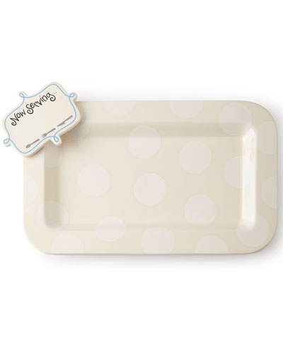 Happy Entertaining Mini Platter with Now Serving Attachment, Plain