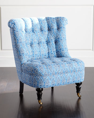 Azure Tufted Chair