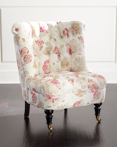 Dusty Rose Tufted Chair
