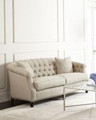 Naturelle Linen Tufted Sofa