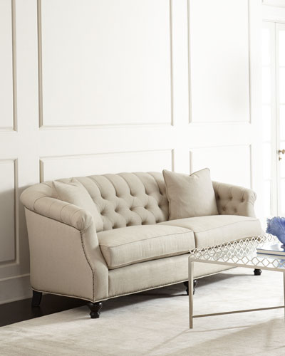 Naturelle Linen Tufted Sofa