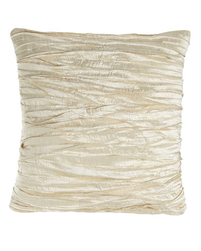 Charlotte Ruched Silk Pillow, 18