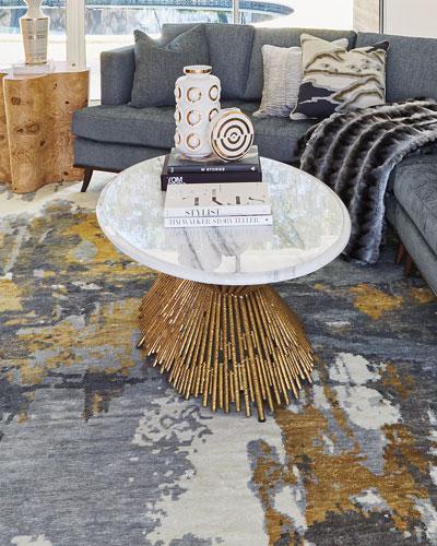 Designer Gold Coffee Table Neiman Marcus