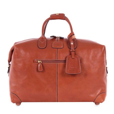 """Bric's Pelle Cognac 18"""" Cargo Duffel Luggage"""