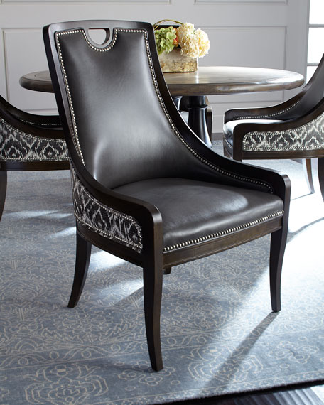 Massoud Scottie Leather Dining Chair