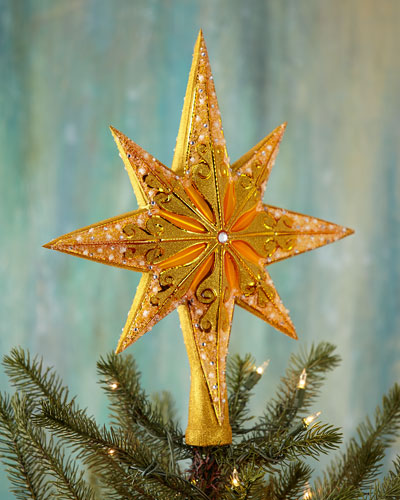 Golden Radiance Christmas Finial