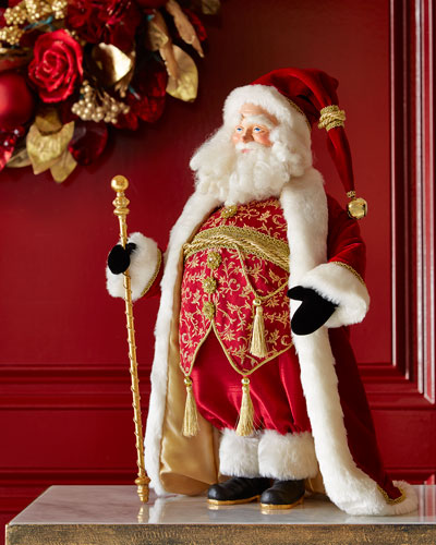 Vest Day of the Year Heirloom Santa Statue