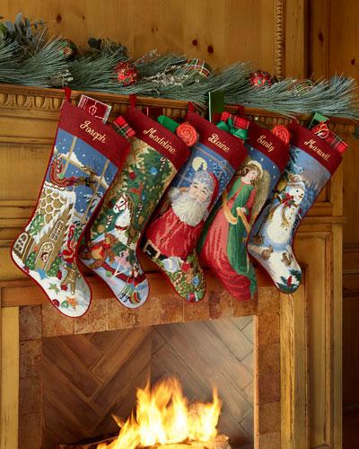 Holiday Needlepoint Stocking