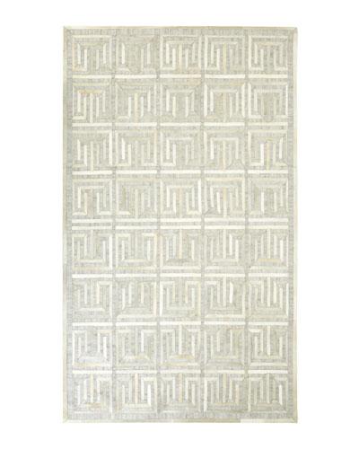 Sterling Greek-Key Rug, 5' x 8'